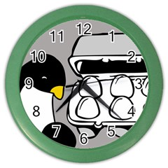 Egg Box Linux Wall Clock (color)
