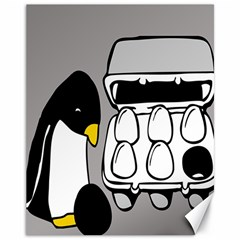 Egg Box Linux Canvas 11  x 14  (Unframed)