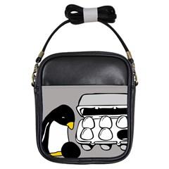 Egg Box Linux Girl s Sling Bag