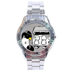Egg Box Linux Stainless Steel Watch