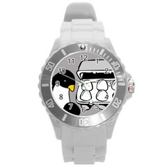 Egg Box Linux Plastic Sport Watch (large)
