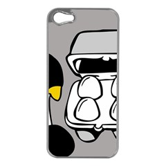 Egg Box Linux Apple Iphone 5 Case (silver)
