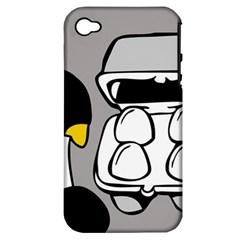Egg Box Linux Apple Iphone 4/4s Hardshell Case (pc+silicone)