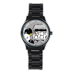 Egg Box Linux Sport Metal Watch (Black)
