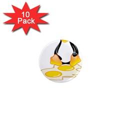 Linux Tux Penguin Birth 1  Mini Button Magnet (10 Pack)
