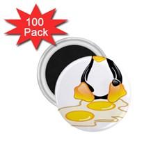 LINUX TUX PENGUIN BIRTH 1.75  Button Magnet (100 pack)