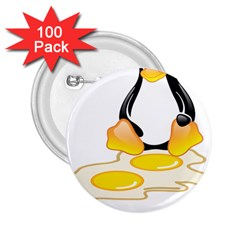 LINUX TUX PENGUIN BIRTH 2.25  Button (100 pack)