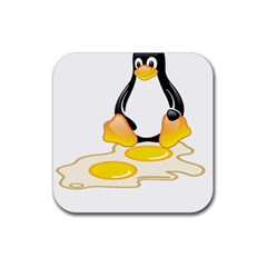 LINUX TUX PENGUIN BIRTH Drink Coasters 4 Pack (Square)