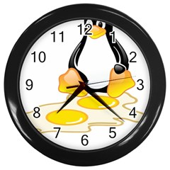 Linux Tux Penguin Birth Wall Clock (black)