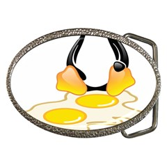 LINUX TUX PENGUIN BIRTH Belt Buckle (Oval)