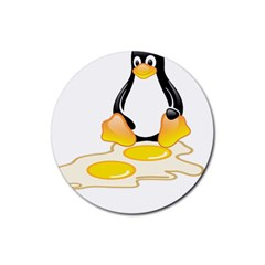 Linux Tux Penguin Birth Drink Coasters 4 Pack (round)