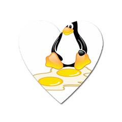LINUX TUX PENGUIN BIRTH Magnet (Heart)