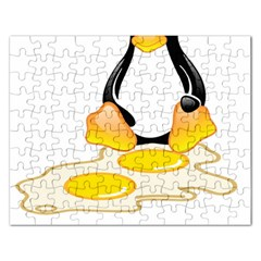 Linux Tux Penguin Birth Jigsaw Puzzle (rectangle)