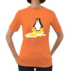 LINUX TUX PENGUIN BIRTH Womens' T-shirt (Colored)
