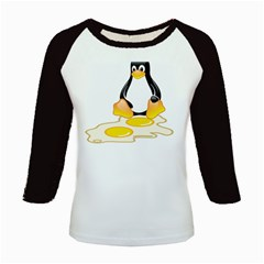 LINUX TUX PENGUIN BIRTH Kid s Long Cap Sleeve T-Shirt