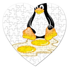 Linux Tux Penguin Birth Jigsaw Puzzle (heart)
