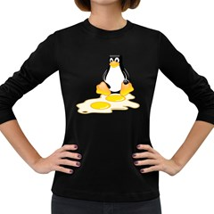 LINUX TUX PENGUIN BIRTH Womens' Long Sleeve T-shirt (Dark Colored)