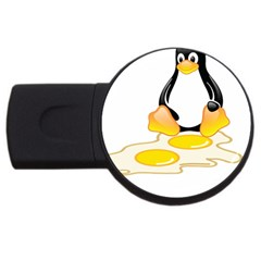 Linux Tux Penguin Birth 4gb Usb Flash Drive (round)