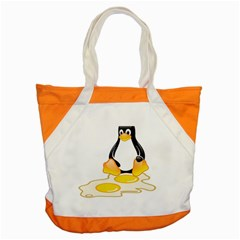 Linux Tux Penguin Birth Accent Tote Bag