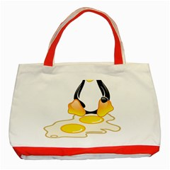 LINUX TUX PENGUIN BIRTH Classic Tote Bag (Red)