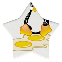LINUX TUX PENGUIN BIRTH Star Ornament (Two Sides)