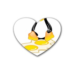 LINUX TUX PENGUIN BIRTH Drink Coasters 4 Pack (Heart)