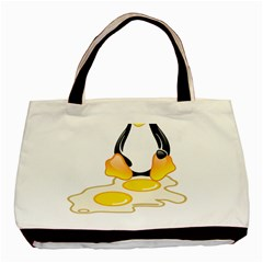 LINUX TUX PENGUIN BIRTH Twin-sided Black Tote Bag