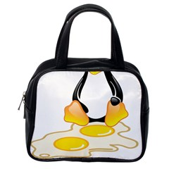 LINUX TUX PENGUIN BIRTH Classic Handbag (One Side)