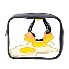 LINUX TUX PENGUIN BIRTH Mini Travel Toiletry Bag (Two Sides)