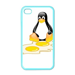 Linux Tux Penguin Birth Apple Iphone 4 Case (color)