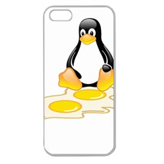 LINUX TUX PENGUIN BIRTH Apple Seamless iPhone 5 Case (Clear)