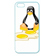 LINUX TUX PENGUIN BIRTH Apple Seamless iPhone 5 Case (Color)
