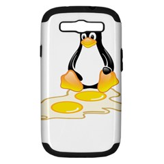 LINUX TUX PENGUIN BIRTH Samsung Galaxy S III Hardshell Case (PC+Silicone)