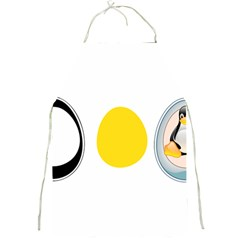 LINUX TUX PENGUIN IN THE EGG Apron