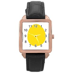LINUX TUX PENGUIN IN THE EGG Rose Gold Leather Watch