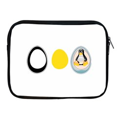 LINUX TUX PENGUIN IN THE EGG Apple iPad Zippered Sleeve