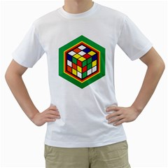 Rubik s Cube Mens  T Shirt (white)