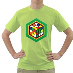 Rubik s Cube Mens  T-shirt (Green)