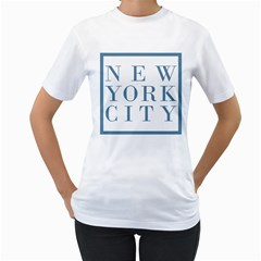 New York City Womens  T-shirt (White)