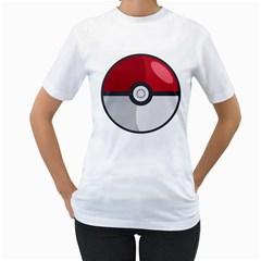 Pokeball Womens  T Shirt (white)