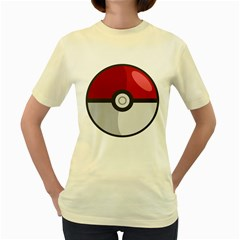 Pokeball  Womens  T-shirt (Yellow)