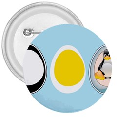 LINUX TUX PENGUIN IN THE EGG 3  Button