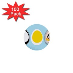 LINUX TUX PENGUIN IN THE EGG 1  Mini Button (100 pack)
