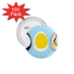LINUX TUX PENGUIN IN THE EGG 1.75  Button (100 pack)