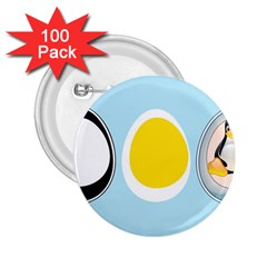 LINUX TUX PENGUIN IN THE EGG 2.25  Button (100 pack)