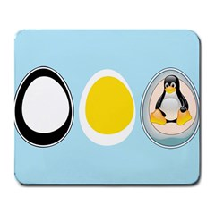 LINUX TUX PENGUIN IN THE EGG Large Mouse Pad (Rectangle)