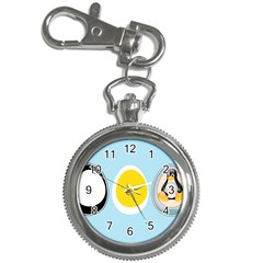 LINUX TUX PENGUIN IN THE EGG Key Chain & Watch