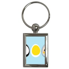 LINUX TUX PENGUIN IN THE EGG Key Chain (Rectangle)
