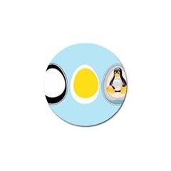 LINUX TUX PENGUIN IN THE EGG Golf Ball Marker