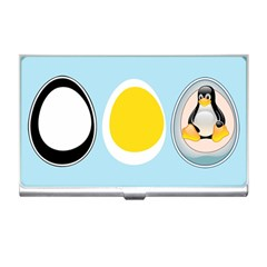 LINUX TUX PENGUIN IN THE EGG Business Card Holder